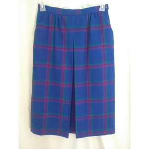 Vintage Investments plaid wool skirt